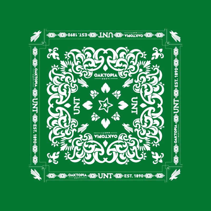 UNT bandana for Oaktopia fest