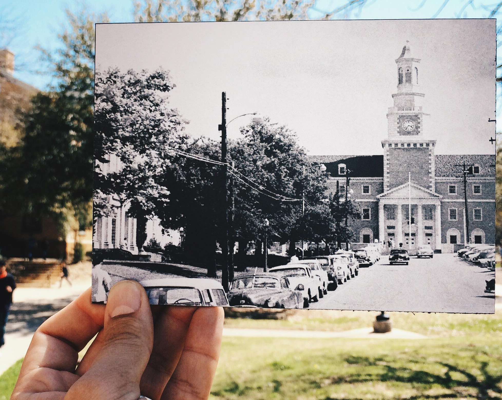 UNT then and now