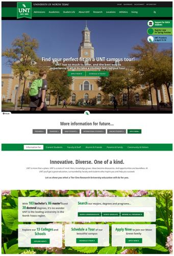 UNT website